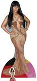Nicki Minaj - Vestido dorado (incluye figura de cartón mini) Figura de cartón