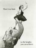No Limits (Deiner Leistung sind keine Grenzen gesetzt - Motivationsposter) Poster