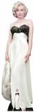 Marilyn Monroe – hvid kjole – minipapfigur medfølger Papfigurer