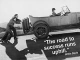The road to success runs uphill (vejen til succes går op ad bakke) Plakater