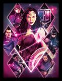 La Liga de la Justicia - Wonder Woman con diamantes Lámina de coleccionista