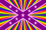 LGBT-Flagge mit Sternen Poster