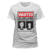 Rick and Morty - Wanted T-shirts