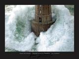 Leuchtturm und stürmische Wellen Kunst von Jean Guichard