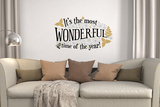 It's the most wonderful time of the year (tekst) Wallstickers