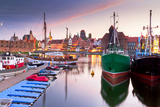 Harbor at Motlawa River with Old Town of Gdansk in Poland Photographic Print by Patryk Kosmider