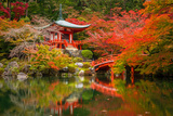 Daigo-Ji Temple with Colorful Maple Trees in Autumn, Kyoto, Japan Photographic Print by Patryk Kosmider