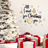 All I want for Christmas (Texte, Tout ce que je veux pour Noël) Autocollant mural