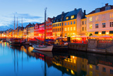 Cityscape of Copenhagen at a Summer Night Photographic Print by  SergiyN