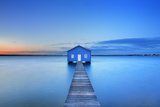 Sunrise over the Matilda Bay Boathouse in the Swan River in Perth, Western Australia. Photographic Print by Sara Winter