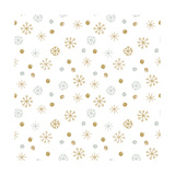 Vector Seamless Winter Pattern Background with Sikver and Gold Snowflakes. Can Be Used for Textile, Photographic Print by  mcherevan