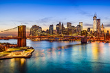New York City, USA Skyline over East River and Brooklyn Bridge. Photographic Print by Sean Pavone
