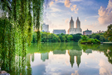 New York City, USA at the Central Park Lake and Upper West Side Skyline. Photographic Print by Sean Pavone