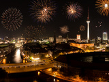 Fireworks in Berlin Photographic Print by  SP-Photo