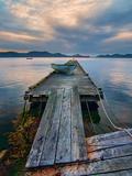 Rickety Island Dock on Saturna Island in British Columbia Canada. Photographic Print by James Wheeler