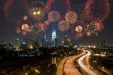 Kuala Lumpur Night View during Fireworks Celebration Photographic Print by wong yu liang