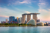Landscape of the Singapore Financial District Photographic Print by  anekoho