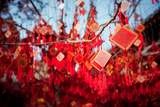 Wish Cards in a Buddhist Temple in Beijing, China Photographic Print by Tepikina Nastya