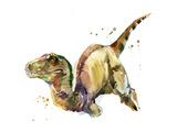 Dinosaur Watercolor Illustration. Photographic Print by Faenkova Elena