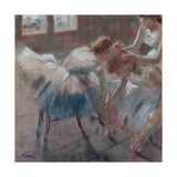 Three Dancers Preparing for Class Posters por Edgar Degas