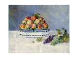 Still Life with Peaches and Grapes Arte por Auguste Renoir