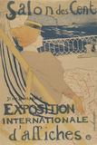 Salon des Cent-Exposition Internationale d'affiches Pôsters por Henri de Toulouse-Lautrec