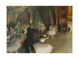 The Rehearsal of the Ballet Onstage Posters por Edgar Degas