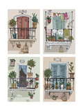 Set of Cute Balcony - Cartoon Photographic Print by  iralu