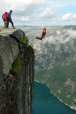 BASE Jump off a Cliff. Photographic Print by Vitalii Nesterchuk