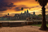 Angkor Wat at Sunset Photographic Print by  Muzhik