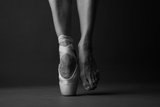 Standing on Tip Toe, Monochrome Photographic Print by Anna Jurkovska