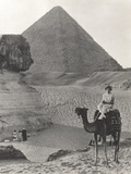 Camel Ride at the Sphinx and Pyramids Photographic Print by Everett Collection
