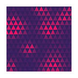 Triangle Pattern, Vector Illustration Photographic Print by  oliopi