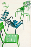 Parisian Metallic Chairs in the City Park. Photo with Tilt-Shift Lens Photographic Print by Anatoli Styf