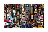 Illustration of a Street in New York City Photographic Print by  isaxar