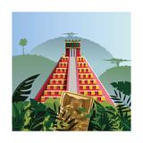Acient Mayan Pyramid Photographic Print by Nikola Knezevic