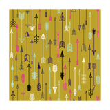 Vector Seamless Colorful Ethnic Pattern with Arrows. Seamless Pattern in Native American Style.Trib Photographic Print by  kollibri