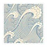 Seamless Pattern with Waves Photographic Print by  il67