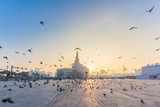 Flying Doves over Fanar, Qatar Islamic Cultural Center in Doha Photographic Print by Ahmed Adly