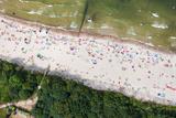 Aerial View of Sandy Polish Beach on Baltic Sea Photographic Print by Mariusz Szczygiel