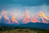 National Park Torres Del Paine in Southern Chile. Sunrise on a Windy Day Photographic Print by  kavram