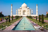 Famous Taj Mahal Mausoleum in in Bright Clear Day, Agra, India, UNESCO World Heritage Site - Archit Photographic Print by Mikhail Varentsov