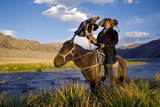 Kazakh Men Traditionally Hunt Foxes and Wolves Using Trained Golden Eagles Photographic Print by  Rawpixel com