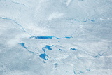 Supra Glacial Lakes over the Ice Sheet in Greenland. Aerial Shot. Photographic Print by Milan Petrovic