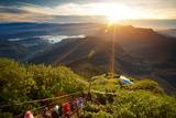 Valley View with Villages and Mountains at Sunrise. View from Adam's Peak, Sri Lanka Photographic Print by Dudarev Mikhail