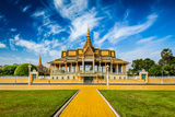 Phnom Penh Tourist Attraction and Famouse Landmark - Royal Palace Complex, Cambodia Photographic Print by DR Travel Photo and Video