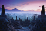 Borobudur Temple, Yogyakarta, Java, Indonesia. Photographic Print by  pigprox