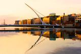 The Samuel Beckett Bridge on the River Liffey in Dublin, Ireland. Photographic Print by  Rainprel