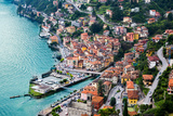 High Resolution Aerial View of the Picturesque Colorful Italian Town Argegno by Lake Como. European Photographic Print by  mervas