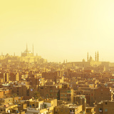 Arabian City in Yellow Gamma. Cairo Photographic Print by Dudarev Mikhail